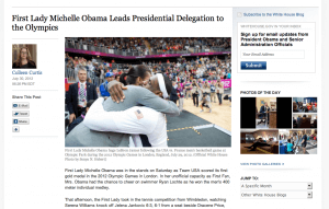 Michelle Obama hugs USA basketball team after victory against France